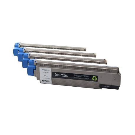Multipack 4 Toner Oki 44059232-44059231-44059230-44059229 Compatibili
