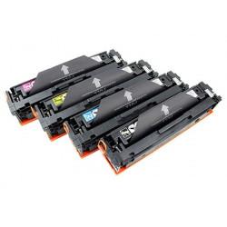 Multipack 4 Toner HP CF530A-CF531A-CF532A-CF533A Compatibili