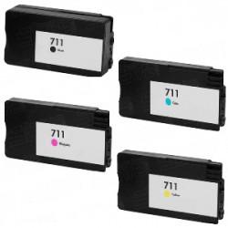 Multipack 4 Cartucce Pigmentate Per HP 711