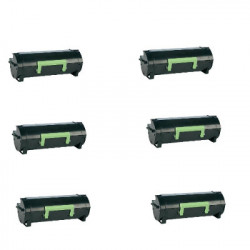 Multipack 6 Toner Per Lexmark 60F2H00 (602H) Compatibili