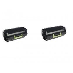 Bipack Toner Lexmark 62D2H00 Compatibili