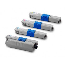 Multipack 4 Toner Per Oki 44973536-44973535-44973534-44973533