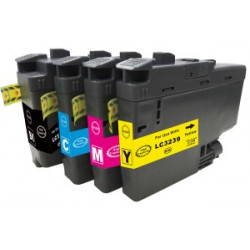 Multipack Cartucce Per Brother LC3237BK-C-M-Y Compatibili