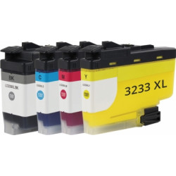 Multipack Cartucce Per Brother LC3233BK-C-M-Y Compatibili