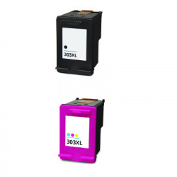 Bipack Cartucce Per HP 303XL Nera e Tricolor