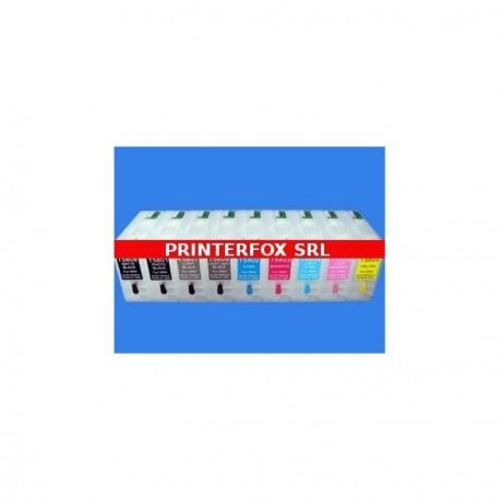 Set 9 Cartucce Vuote Ricaricabili Per Epson T580800-T580100-T580700-T580900-T580200-T580300-T580400-T580500-T580600